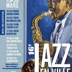 Charlie Parker Affiche du 16è Festival Jazz En Ville 2019.