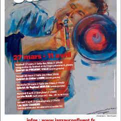 Affiche du 12è Festival Jazz  En Ville. Festival Jazz En Ville 2015