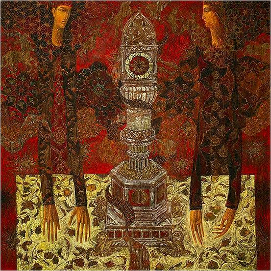 hommes croyance temple prieres peinture figurative timur d'vatz