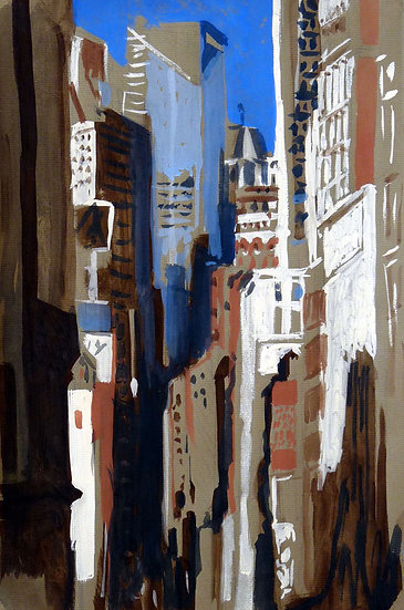 Pascale Hemery / Union Square, New-York (Gouache)