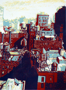 Pascale Hemery / View from a window in Manhattan - New York / Oeuvre finie