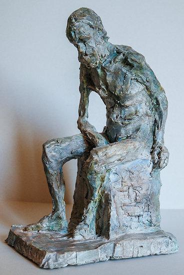 Marie-Anne Hamaide / Vieil homme assis de côté