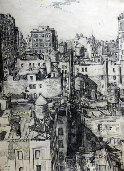 Pascale Hemery / View from a window in Manhattan - New York