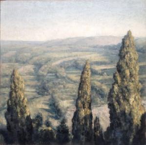 Grands cyprès en Toscane, petite version