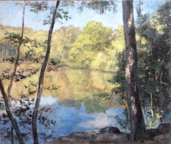 L'étang éclairé au Miroir