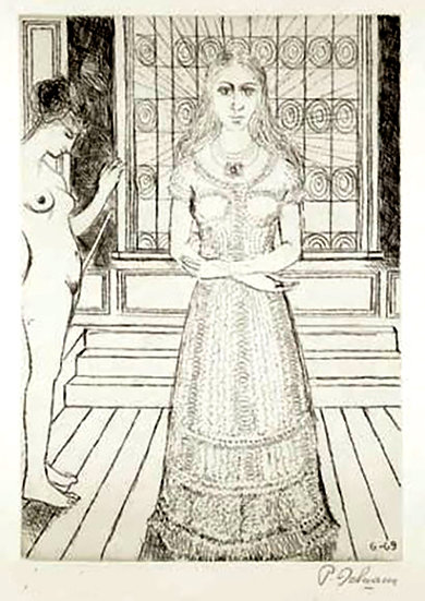 Paul Delvaux / The stained glass window