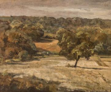 Terres rouges et champs crayeux à la Millière