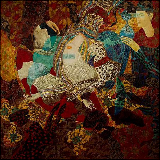 Peinture figurative tourbillon hommes Timur D'Vatz