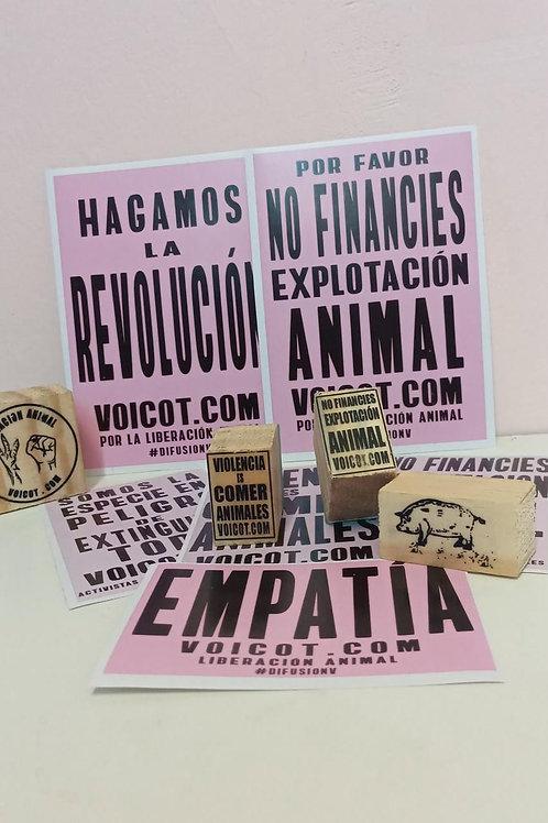 Hace Activismo!! Promo 1 sello a elección + 10 stickers