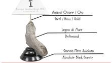 Lampade di design con i legni di mare - Made in Italy di Lusso