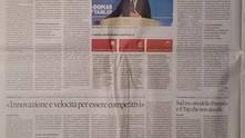 Rassegna Stampa Sole 24 Ore: Dalla vernice alla pasta, ecco come i giovani declinano il modello 4.0