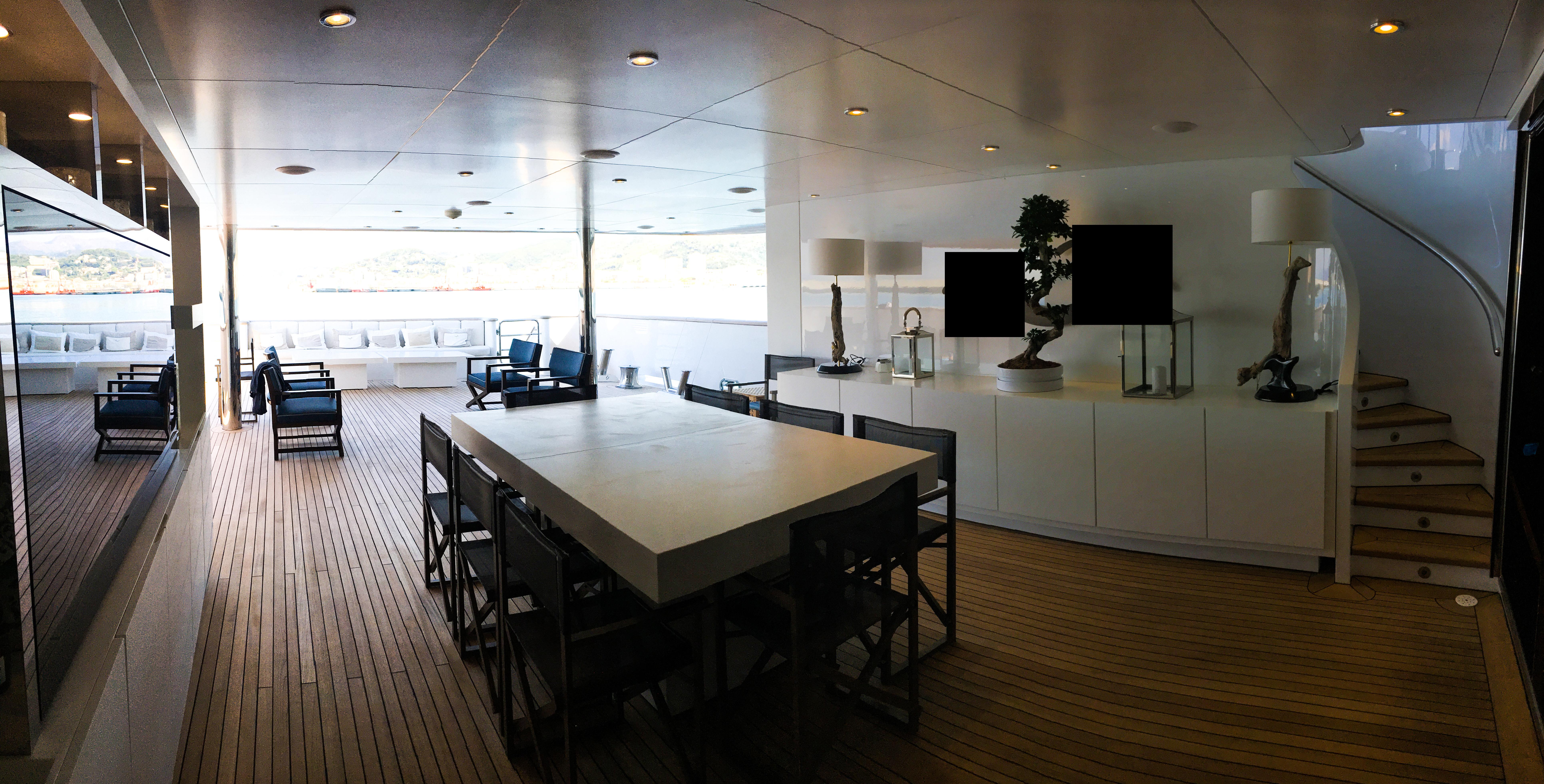 interior design Illuminazione Yacht