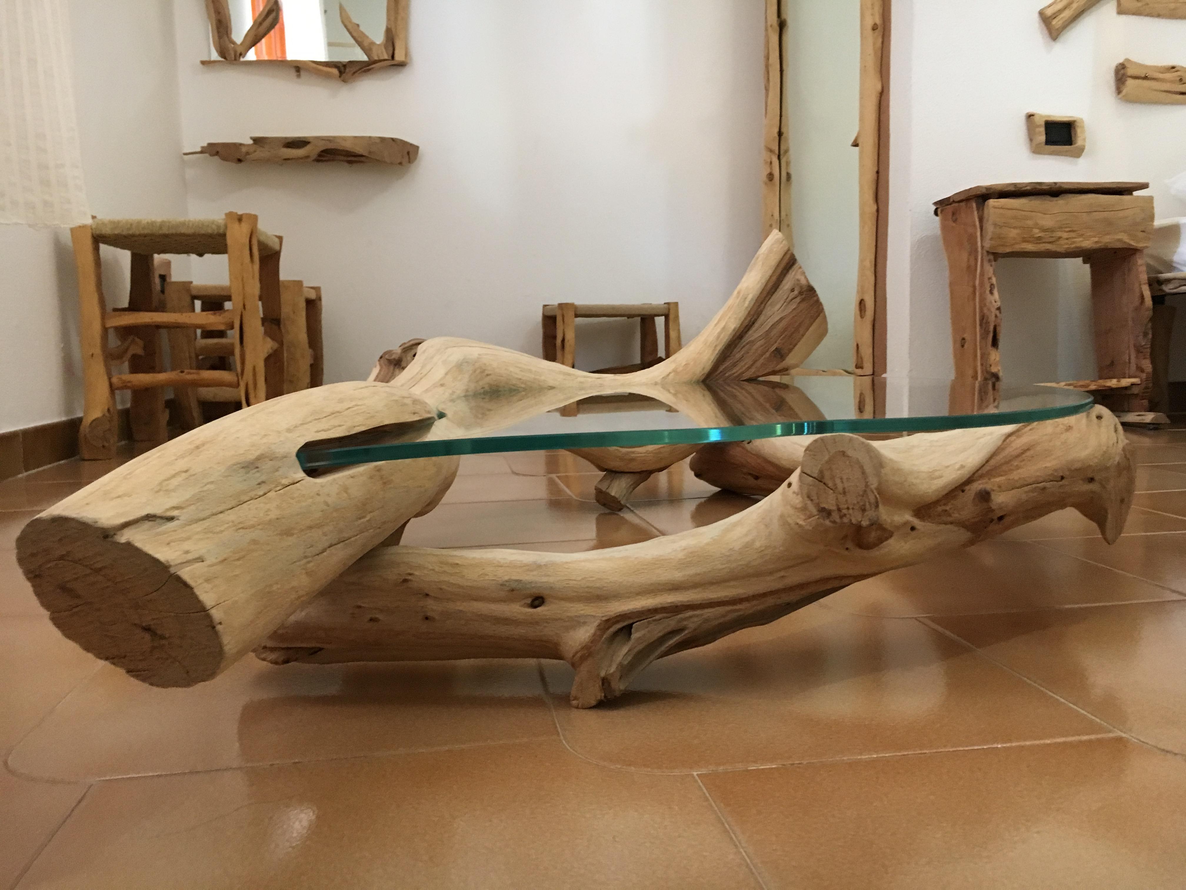 Tavolino Ginepro Vetro