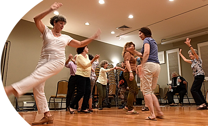 Adult women dancing