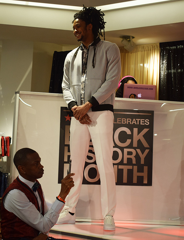 Macy's Black History Month Celebration in Atlanta at Lenox Mall; Gavon Owens Fashion Inspired by Dapper Dan