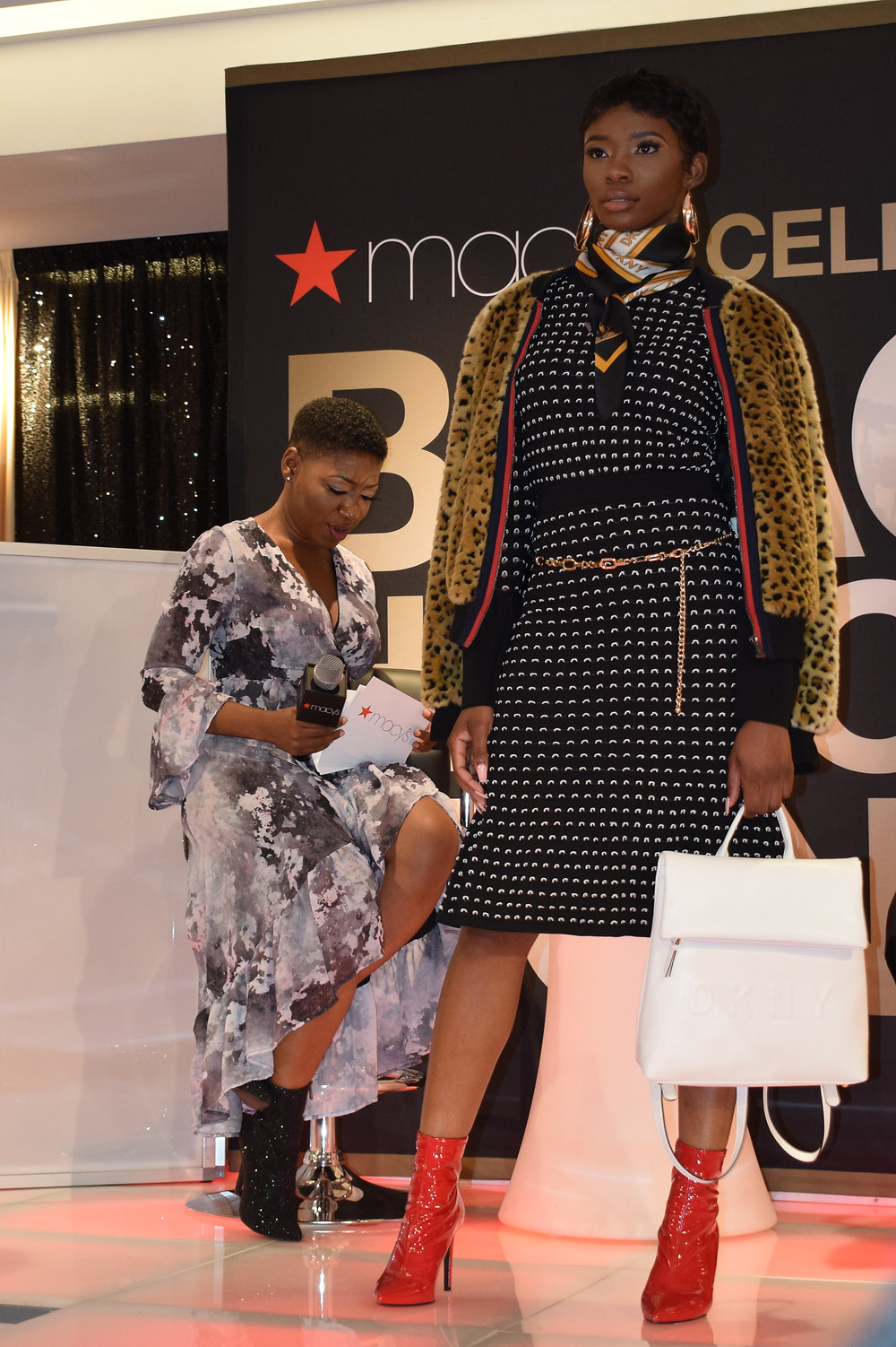Macy's Black History Month Celebration in Atlanta at Lenox Mall; Brittany Boykin Fashion Inspired by Rihanna Fenty