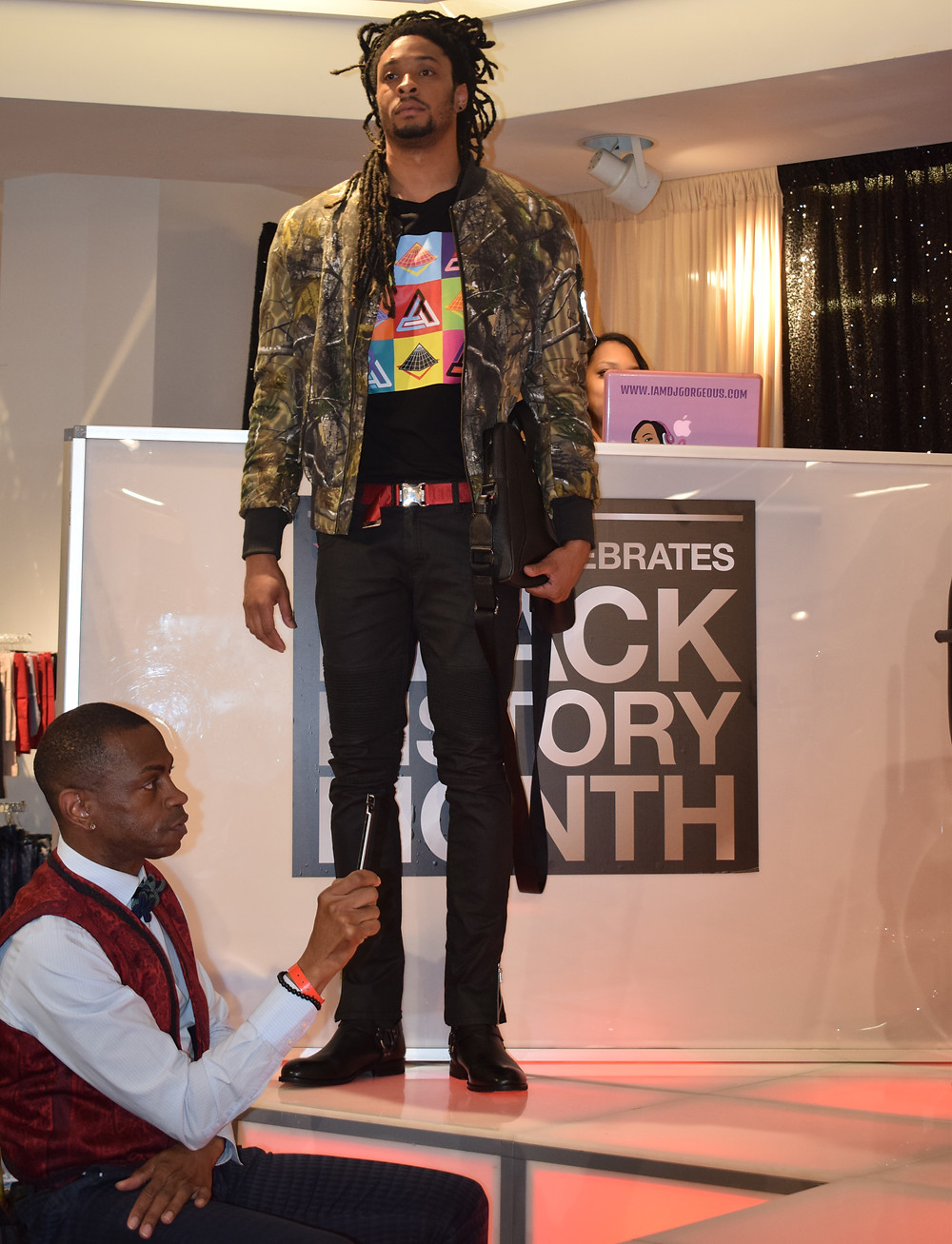 Macy's Black History Month Celebration in Atlanta at Lenox Mall; KD Reynolds Fashion Inspired by Dapper Dan