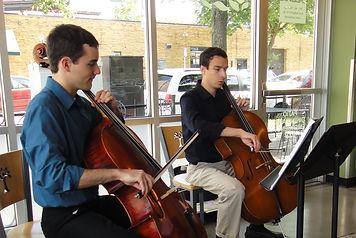 cello duet, 2cellos, charles asch, seward coop, live background music, ben osterhouse, twin cities, minneapolis, st. paul, string ensemble