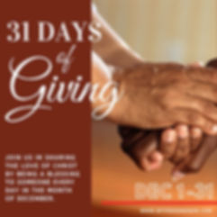 31 Days of Giving