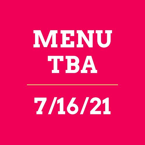 Virtual Cooking Class 7/16/21 - TBA