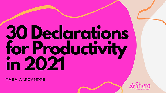 30 Declarations and 30 Scriptures for Productivity
