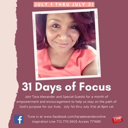 31 Days of Focus 2021