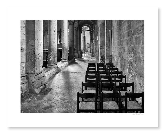 Chairs in Sant'Antimo Abbey
