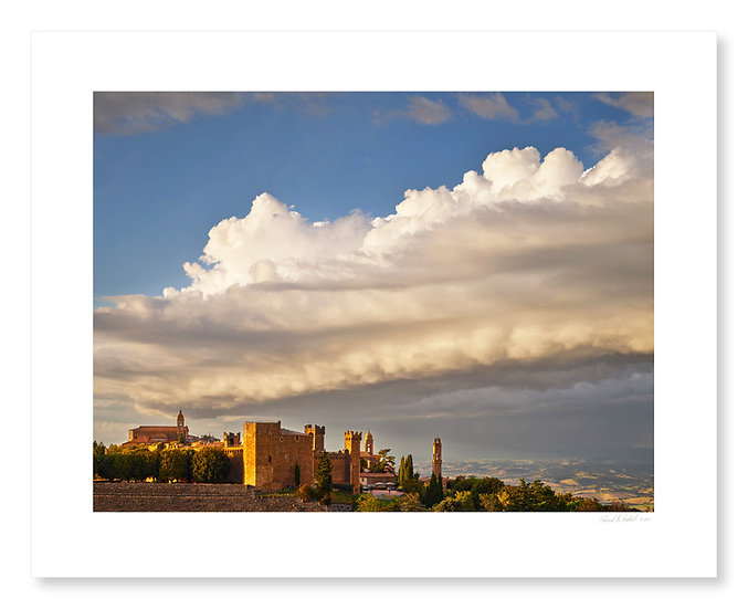 Evening Clouds, Fortezza, Montalcino