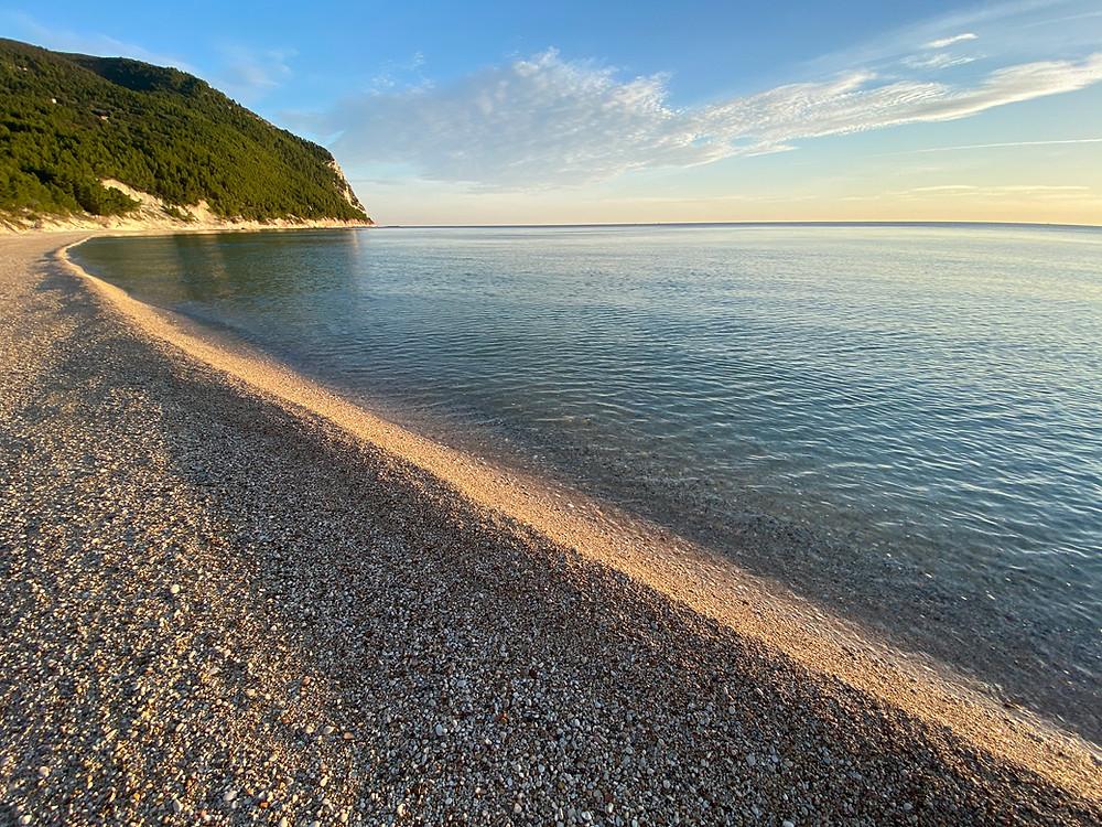 The beach at Sirolo, Italy
