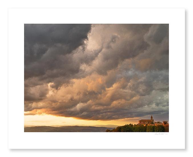 Sunset Over Montalcino Duomo