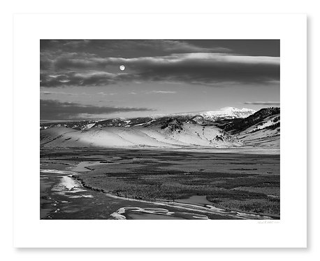 Moonrise, National Elk Refuge