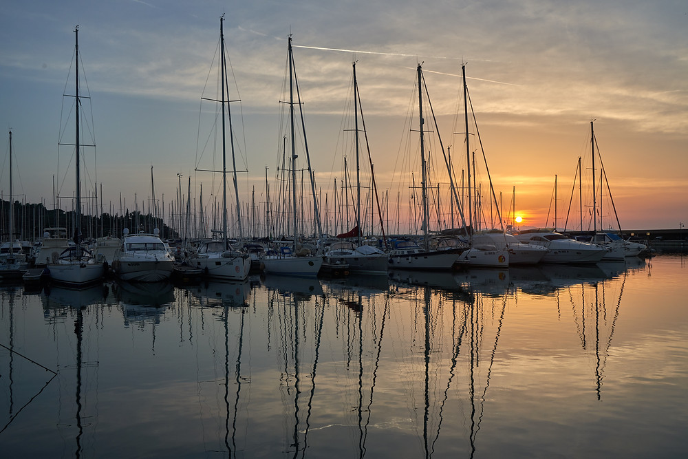 Sunset at Marina Scarlino