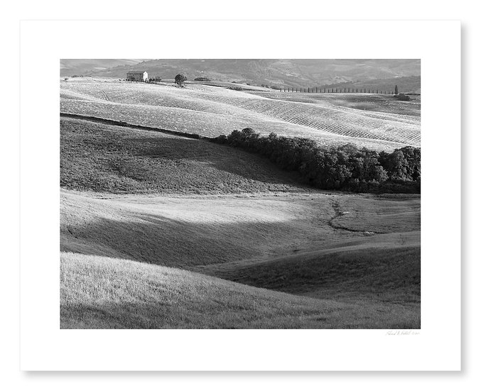 Wheatfield & Farmhouse, Val D'Orcia