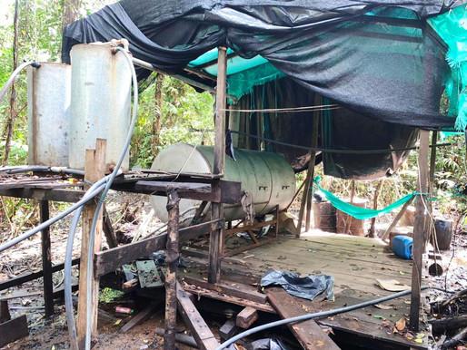 Destruido laboratorio para la producción de estupefacientes y semisumergible en Mosquera, Nariño.
