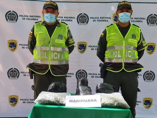 10 MIL DOSIS DE MARIHUANA INCAUTÓ LA POLICIA EN LA VÍA QUE DE LA DORADA CONDUCE A HONDA