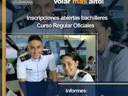 Convocatorias abiertas para Oficiales y Suboficiales en la Fuerza Aérea Colombiana.