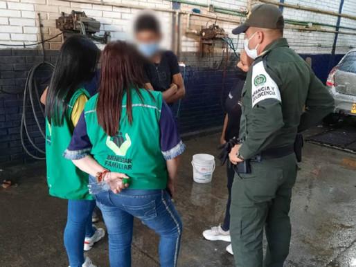 12 menores fueron sorprendidos trabajando ilegalmente en Caldas