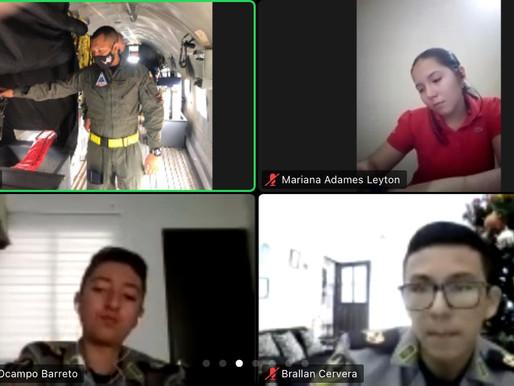 Estudiantes de Cundinamarca y Tolima conocen la Fuerza Aérea Colombiana desde casa