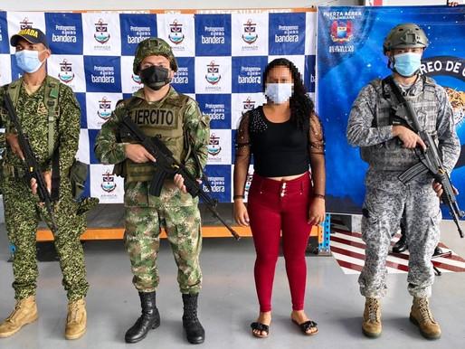 Integrantes de Grupo Armado Organizado fueron entregados a la justicia en Caquetá.