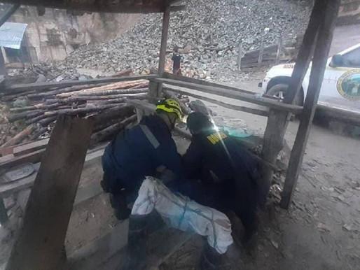Roca impactó a un hombre cuando se movilizaba por vías de Marmato, Caldas
