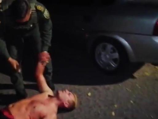 Con pistola teaser le pusieron tatequieto a borracho peligroso en La Dorada