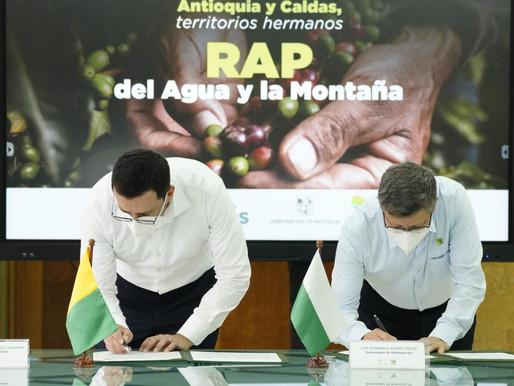 GOBERNADORES DE CALDAS Y ANTOQUIA FIRMARON ACUERDO DE VOLUNTADES