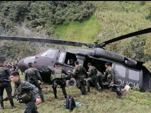 Helicóptero de la Policía se accidentó en Ituango