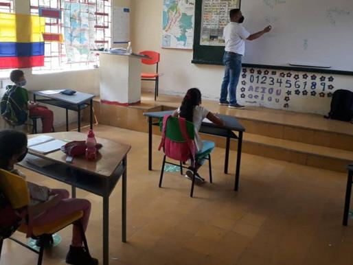 Cerca del 80% de la matrícula estudiantil de Caldas ya está en presencialidad