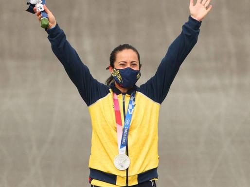 ¡Plata para Mariana Pajón! La colombiana ganó su tercera medalla olímpica