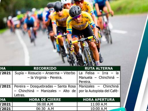 Cierres viales en Caldas 25 y 26 de octubre por competencia ciclística