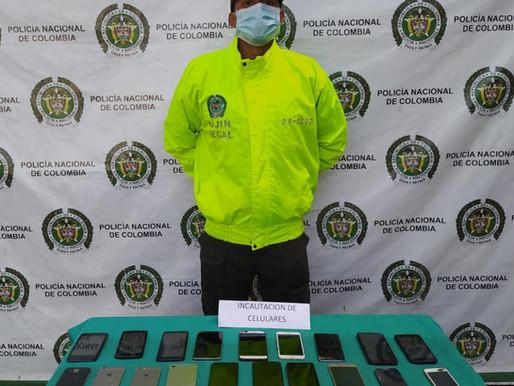 19 equipos móviles fueron incautados por la Policía en La Dorada