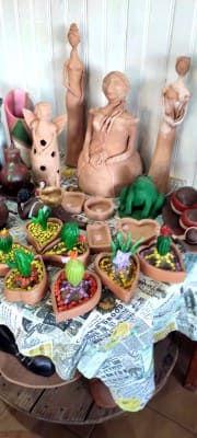 Artesanato em argila em Coxim