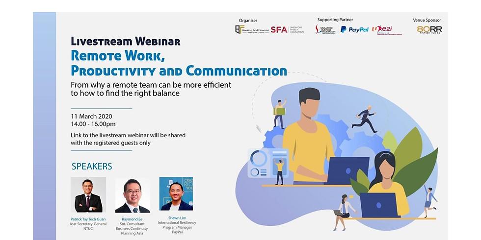 (Live Stream) Remote Work, Productivity & Communication