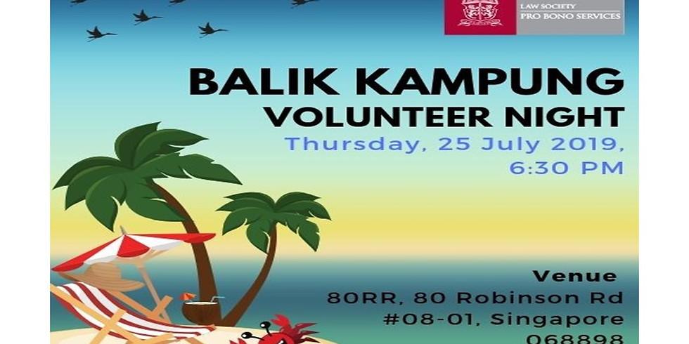 LSPBS Volunteer Balik Kampung 2019